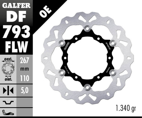 Galfer Rear Brake Disc KTM 1090/1190/1290 Adventure R