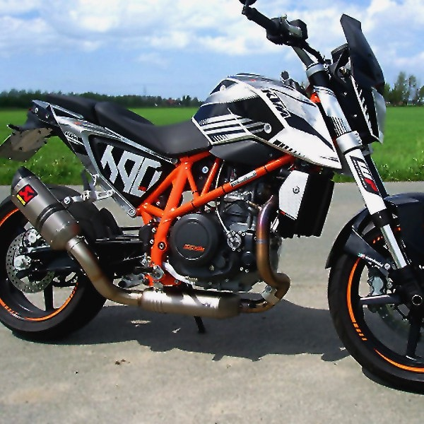 akrapovic stainless steel exhaust header ktm 690 duke 2012. Black Bedroom Furniture Sets. Home Design Ideas
