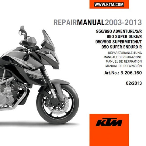 KTM 950 990 LC8 Repair Manual DVD 3206160 - KTM Twins