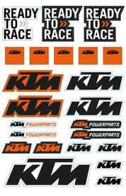 KTM Sticker Sheet KTM MX/Freeride 250 R 2017 - KTM Twins