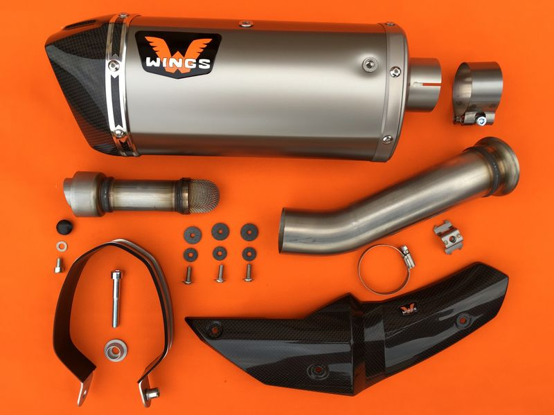 Wings Slip-on Exhaust KTM 790 Duke 2018