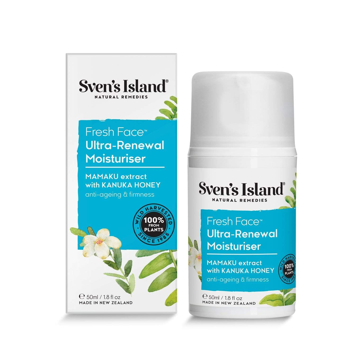 Svens Islands Award winning Fresh Face Ultra renewal Moisturiser
