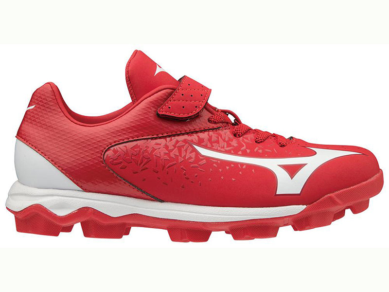 Mizuno Youth Wave Select Nine Molded Cleat Red (320581)