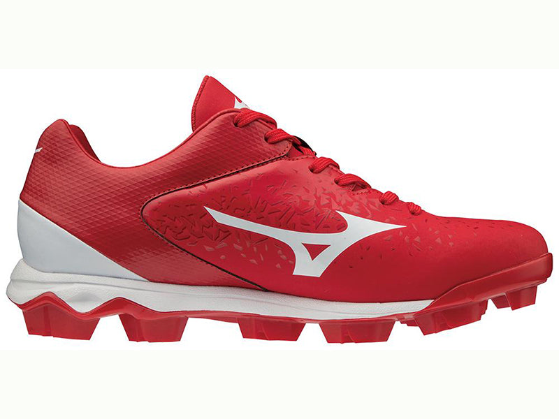 Mizuno Men's Wave Select Nine TPU Low Molded Cleat Red (320584)