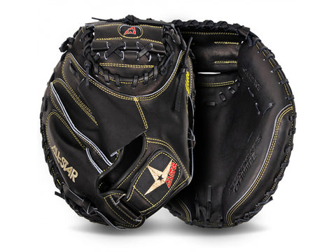 "All-Star PRO ELITE CM3000SBT 33.5"" Catcher's Mitt (BLACK)"