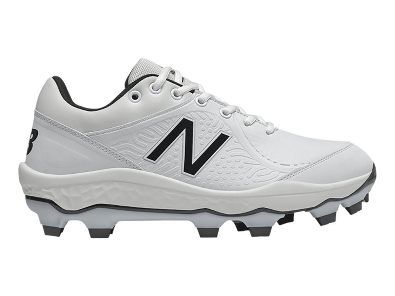 New Balance Men's Fresh Foam PL3000v5 Molded Cleats Low White