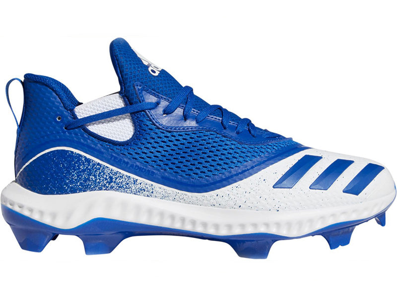 Adidas Men's Icon V Bounce TPU Molded Cleats Mid White/Royal (G28279)