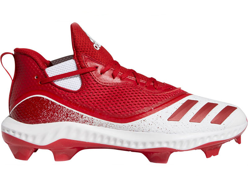 Adidas Men's Icon V Bounce TPU Molded Cleats Mid White/Red (G28281)