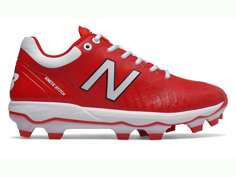 New Balance Men's PL4040v5 Molded Cleats Low Red (PL4040R5)