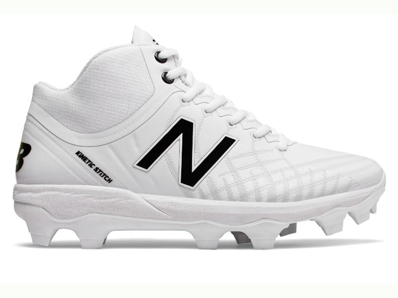 New Balance Men's PM4040v5 Molded Cleats Mid TPU White (PM4040W5)