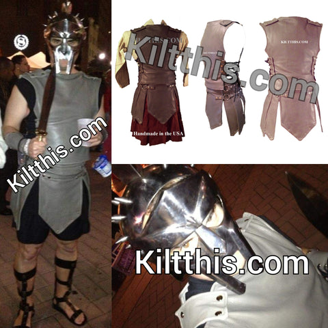 Grey Gladiator Suit by Kilt This