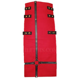 Interchangeable Utility Kilt Front Panel Red with Black Leather Cross