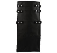 Interchangeable Utility Kilt Front Panel Black Leather