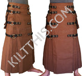 Interchangeable Utility Kilt Floor Length Wrap Nutmeg Kilt