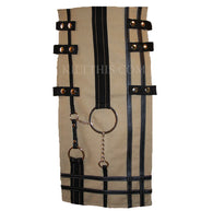 Interchangeable Utility Kilt Front Panel Khaki with Black Design