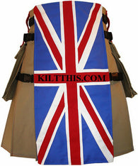 Interchangeable Canvas Cargo Utility Kilt Union Jack Flag of the United Kingdom
