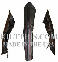 Simple Badpiper Baddie Leather Kilt Leather Vest Leather Sleeves Set Leather Stripes