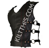 Customize Baddie Black Leather Vest