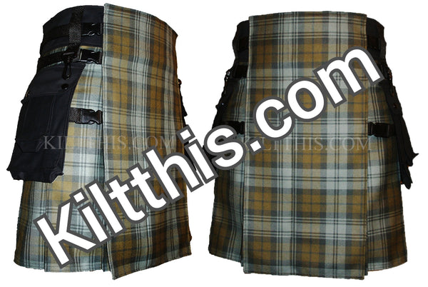 Ancient Weathered Black Watch Tartan Kilt by Kilt This
