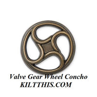 Simple Brown Canvas Long Cargo Utility Kilt Steampunk Spiral Conchos