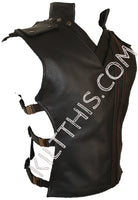 Customize Baddie Leather Vest Hiker Buckles Closures and Priest Collar