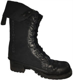 Boot Covers - Black Leather