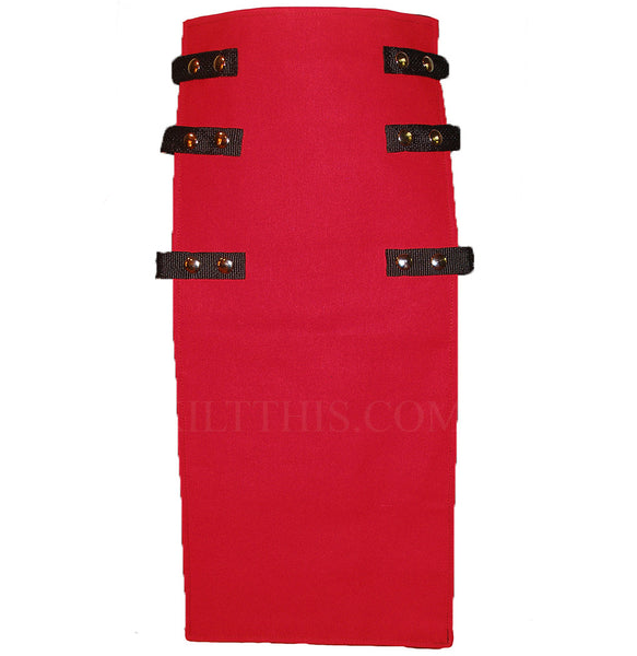 Interchangeable Utility Kilt Front Panel Red Front Apron