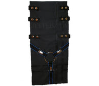 Interchangeable Utility Kilt Front Panel Black Blue Y Gear Design Snap Kilt