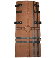 Interchangeable Utility Kilt Front Panel Cross Design Black Leather Design