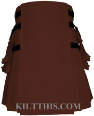 Interchangeable Classic Brown 10oz Canvas Hiker Utility Kilt