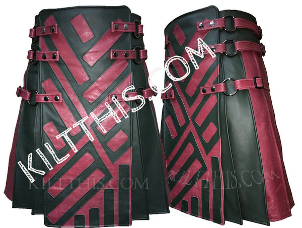 Interchangeable Star Wars Inspired Two Tone Leather Utility Kilt