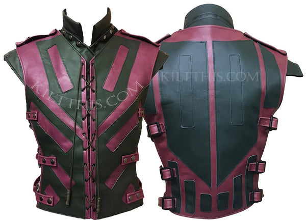 Star Wars Inspired Lace Up Leather Vest Custom Design and Priest Collar