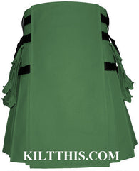 Interchangeable Green Grass Canvas Hiker Utility Kilt