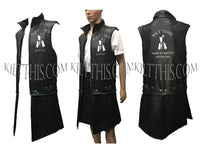 Customize Leather Vest with Removable Panels and Kilt This Logo