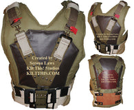 Bane Inspired Canvas Military Vest with Belt