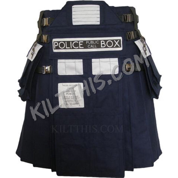 Simple Interchangeable TARDIS Inspired Utility Kilt