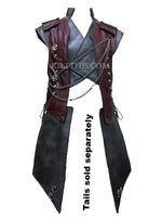 Interchangeable Leather Vest Breast Plate Design and Priest Collar Adjustable Paws Design