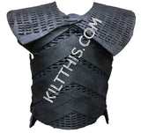 Night King Inspired Leather Kilt with Foam Armor Vest and Shoulder Armor