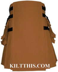 Interchangeable Nutmeg Canvas Hiker Utility Kilt Design