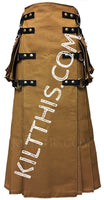 Customize Utility Kilt Long Floor Length Wrap Nutmeg Kilt