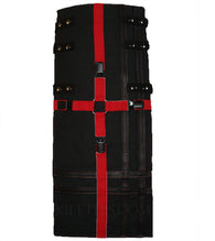 Interchangeable Utility Kilt Front Panel Black with Red Cross