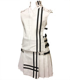 White Leather Baddie Priest Collar