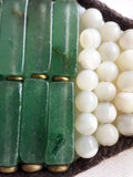 Green Aventurine & Mother-of-Pearl Bracelet - Antique Button