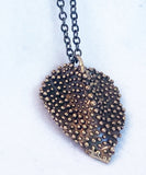 Bronze Bubble Heart Pendant Necklace
