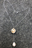 Perfect Puka & Pearls Drop Pendant Necklace - Rose Bronze