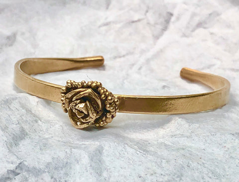 Beach Bubble Flower Bracelet - Rose Bronze