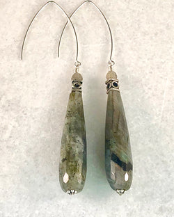 Labradorite & Sterling Earrings