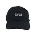 Wake Up And Win Motto Hat (Black)