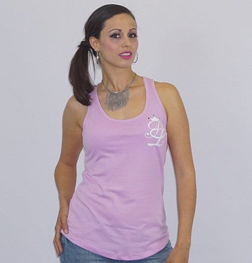 Deep Scoop Neck Signature Racer Back Brand Name Tee - Bella LaVie Collection