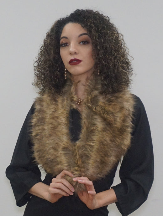 Fur Collar Shaw - Bella LaVie Collection